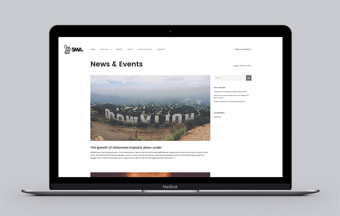5MA website Latest News page