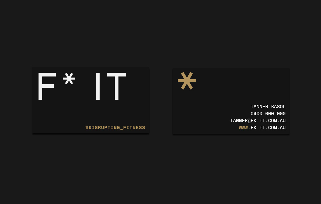 F* IT Business Card concepts