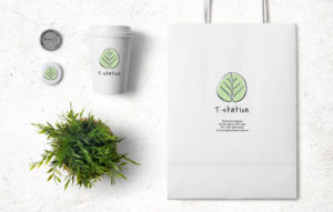 T-Station logo design - Cafe elements