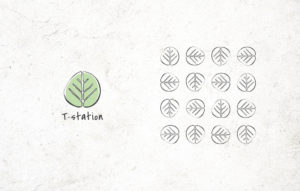 T-Station logo design - logo pattern