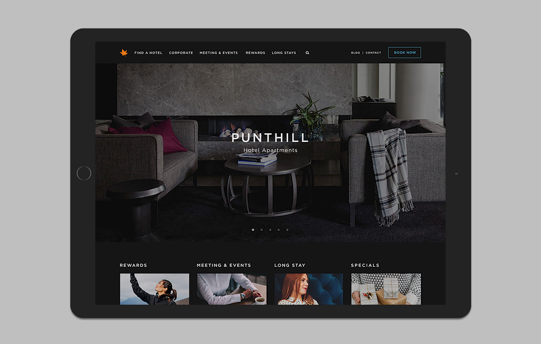 Responsive website for Punthill Apartment Hotels