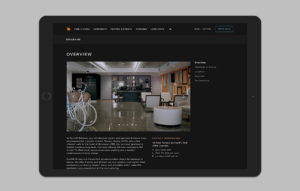 Punthill website design - hotel overview page mockup