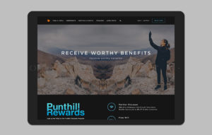 Punthill website design - Rewards page mockup