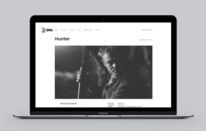 5MA website design - Hunter page