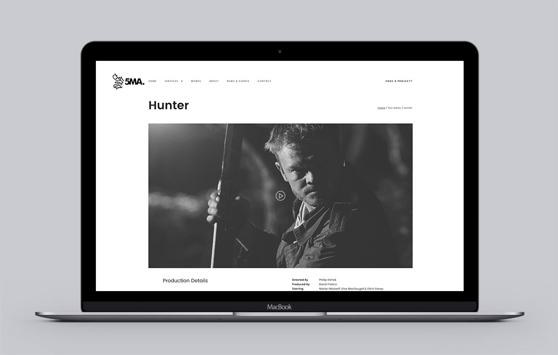 5MA website Hunter Project Page