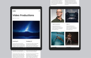 5MA website design - Video Production page on iPad