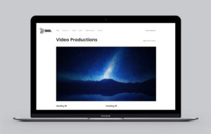 5MA website design - video production page