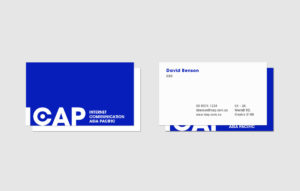 ICAP Business Card design
