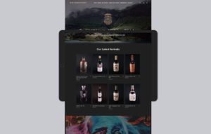 Rare Cask Society website design - homepage mockup