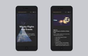 Rare Cask Society website design - iphone mockup