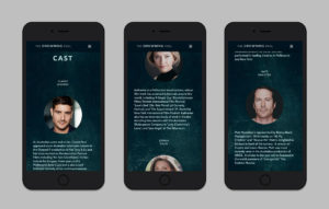 The Drowning Pool website design - mobile friendly version mockup