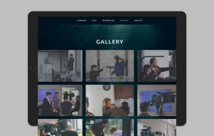 The Drowning Pool website design - Gallery section