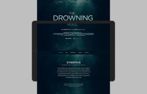 The Drowning Pool website design - landing page mockup 02