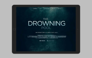 The Drowning Pool website design - landing page mockup