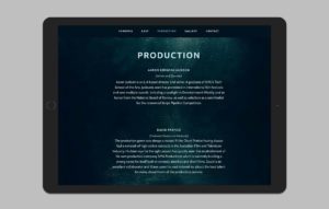 The Drowning Pool website design - production section