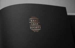 Rare Cask Society logo printed with copper foil effect
