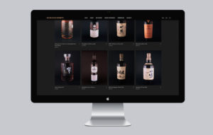 Rare Cask Society Desktop website product page mockup