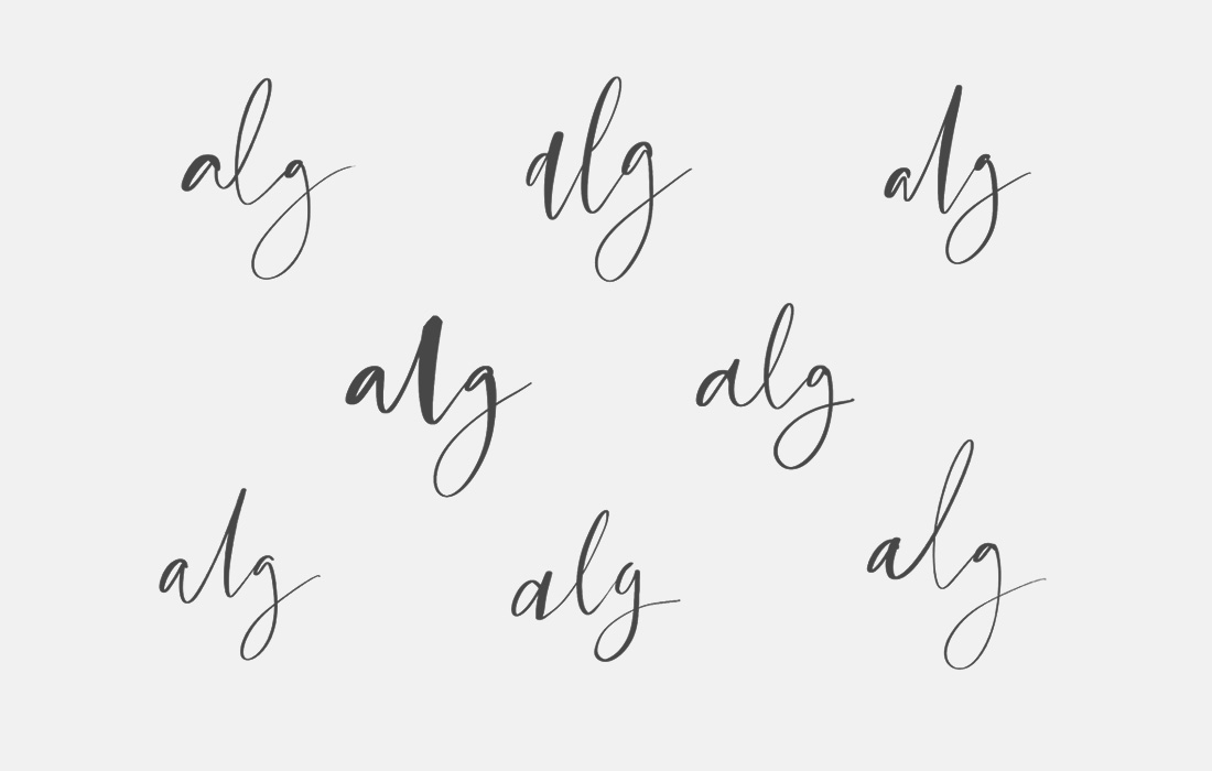 alg seaweed concept calligraphy